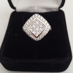 BRAND NEW rhodium sterling silver ring sz 6
